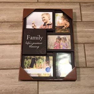 Brand New! Dark Brown Family Picture Frame
